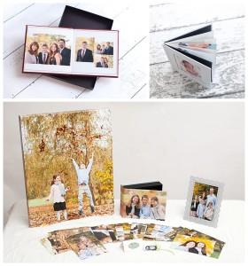 photo albums and prints