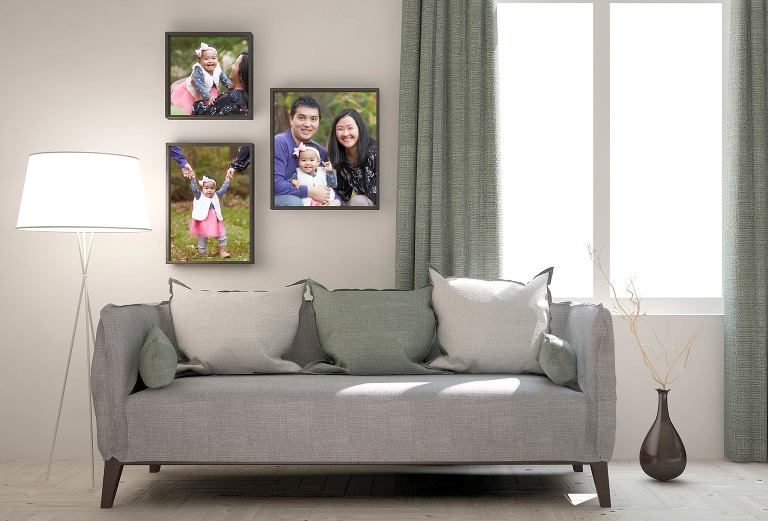 family photos in home